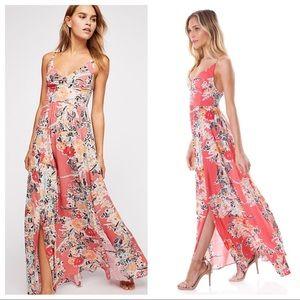Free People Floral Maxi Dress - EUC!!